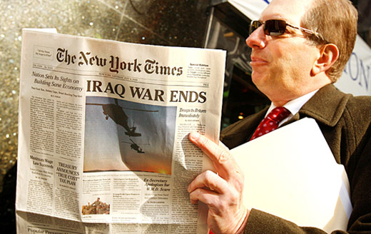 Fake New York Times - Iraq War Ends