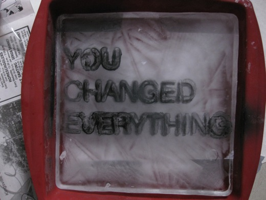 You Changed Everything on ice