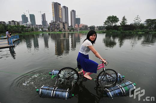 Floating Bikes New Detroit River Crossing