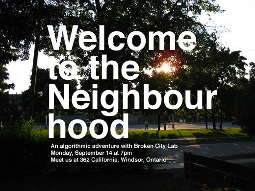 Welcome to the Neighbourhood