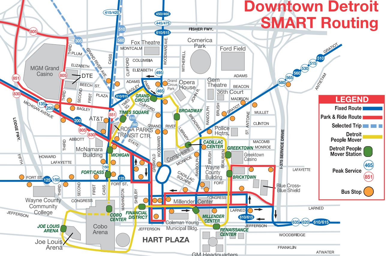 Detroit Bus Services