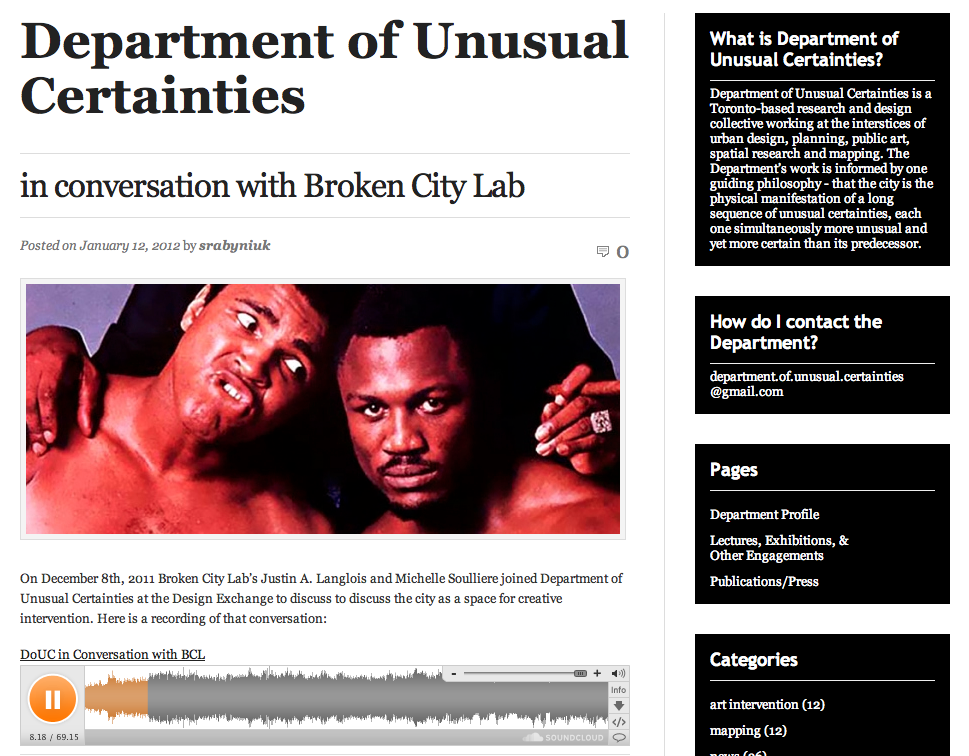 Listen Now: In Conversation with the Department of Unusual Certainties @ the DX