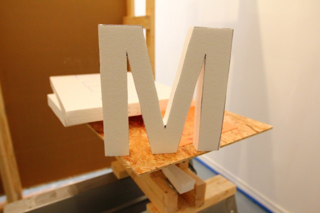 Tuesday at CIVIC SPACE with design sessions, styrofoam letters, bunting, meetings, and polaroids (1)
