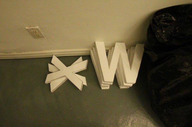 Tuesday at CIVIC SPACE with design sessions, styrofoam letters, bunting, meetings, and polaroids (17)