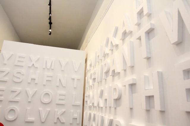Styrofoam letters, <b>Doses NAPROSYN work</b>, white walls, night time guerilla art (12)