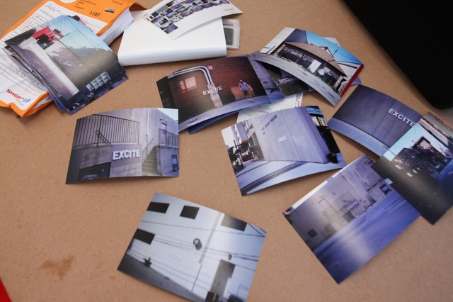 Documentation with single-use cameras: Putting letters up in city spaces (8)