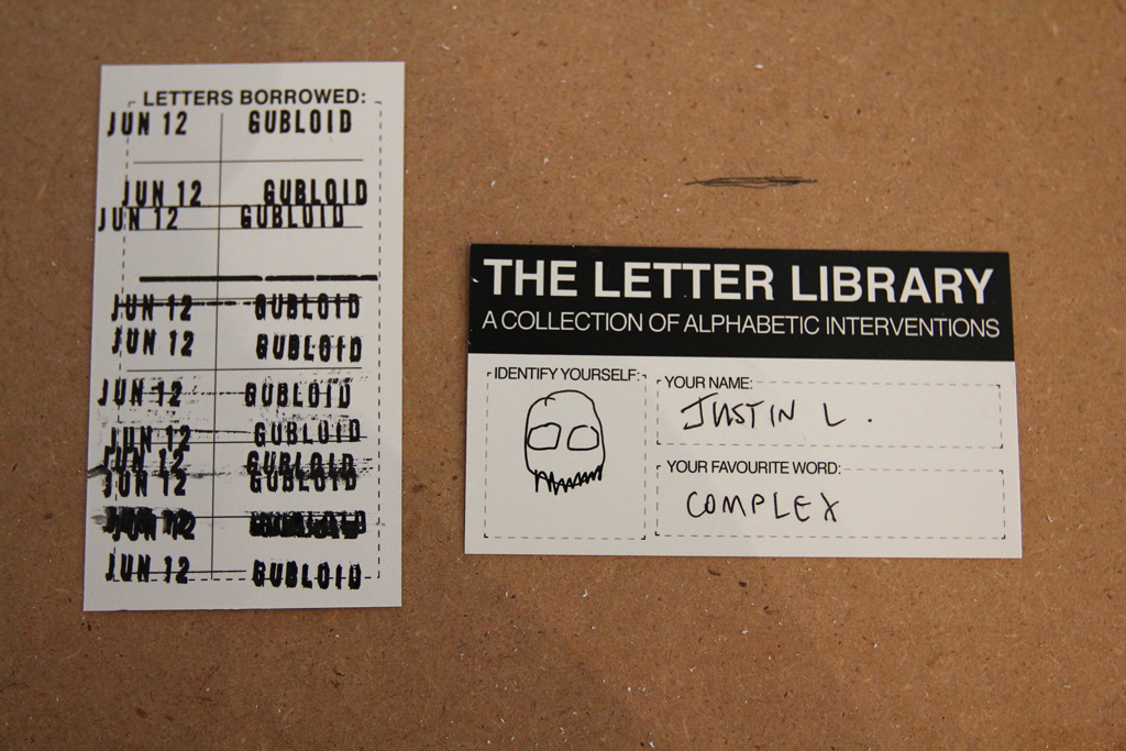 Letter Library Card & Stamp Test, Example, etc.
