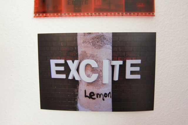 Exhibition design, photographs, tape, and negatives (6)