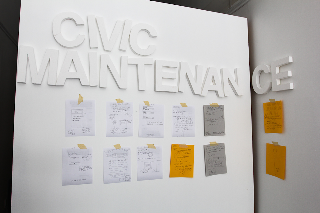 Planning for Civic Maintenance
