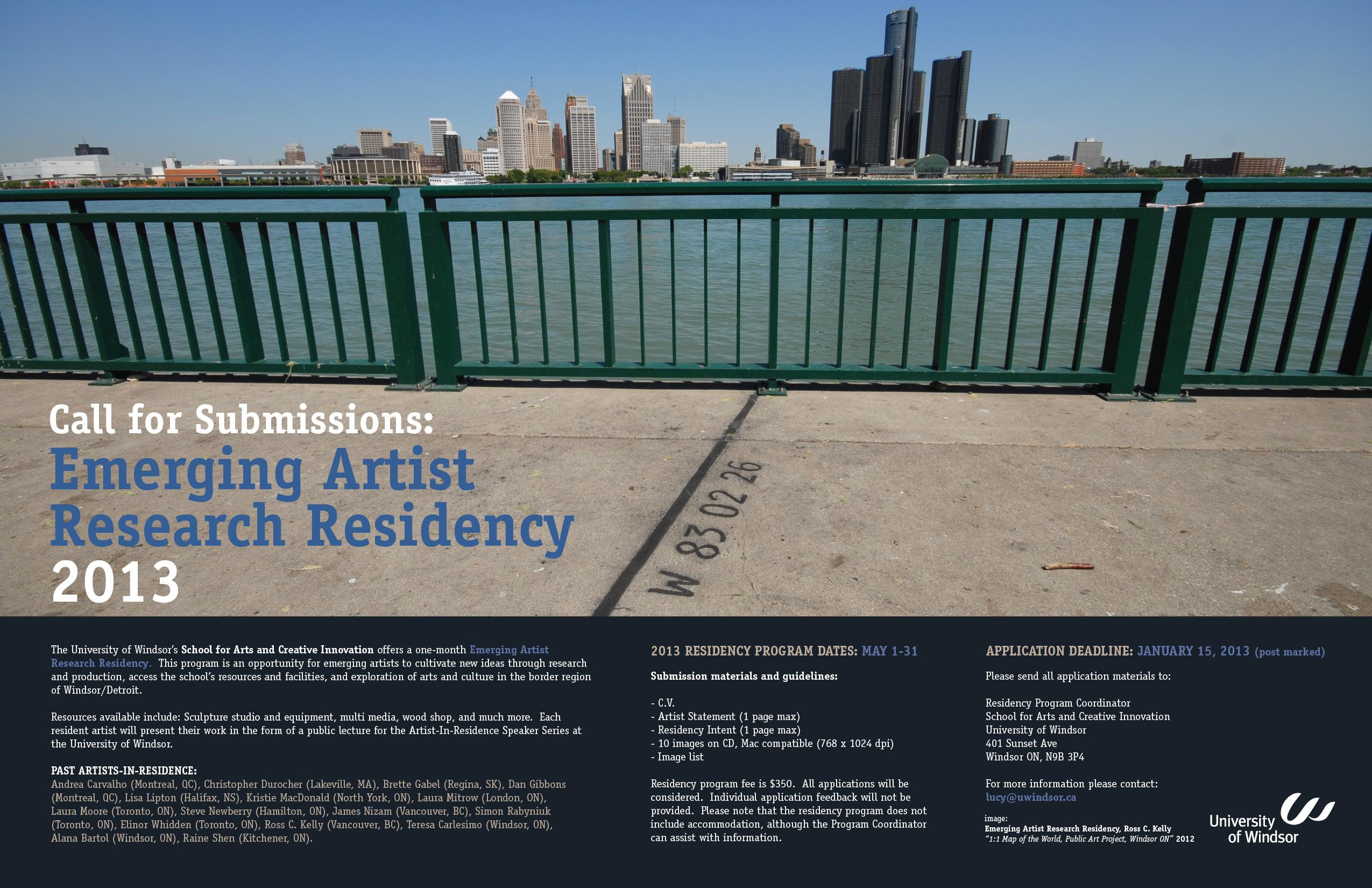 Artist Residency poster 2013 final_1