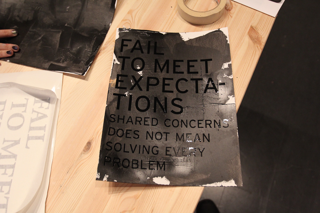 Fail to Meet Expectations: Vinyl on Paint Posters