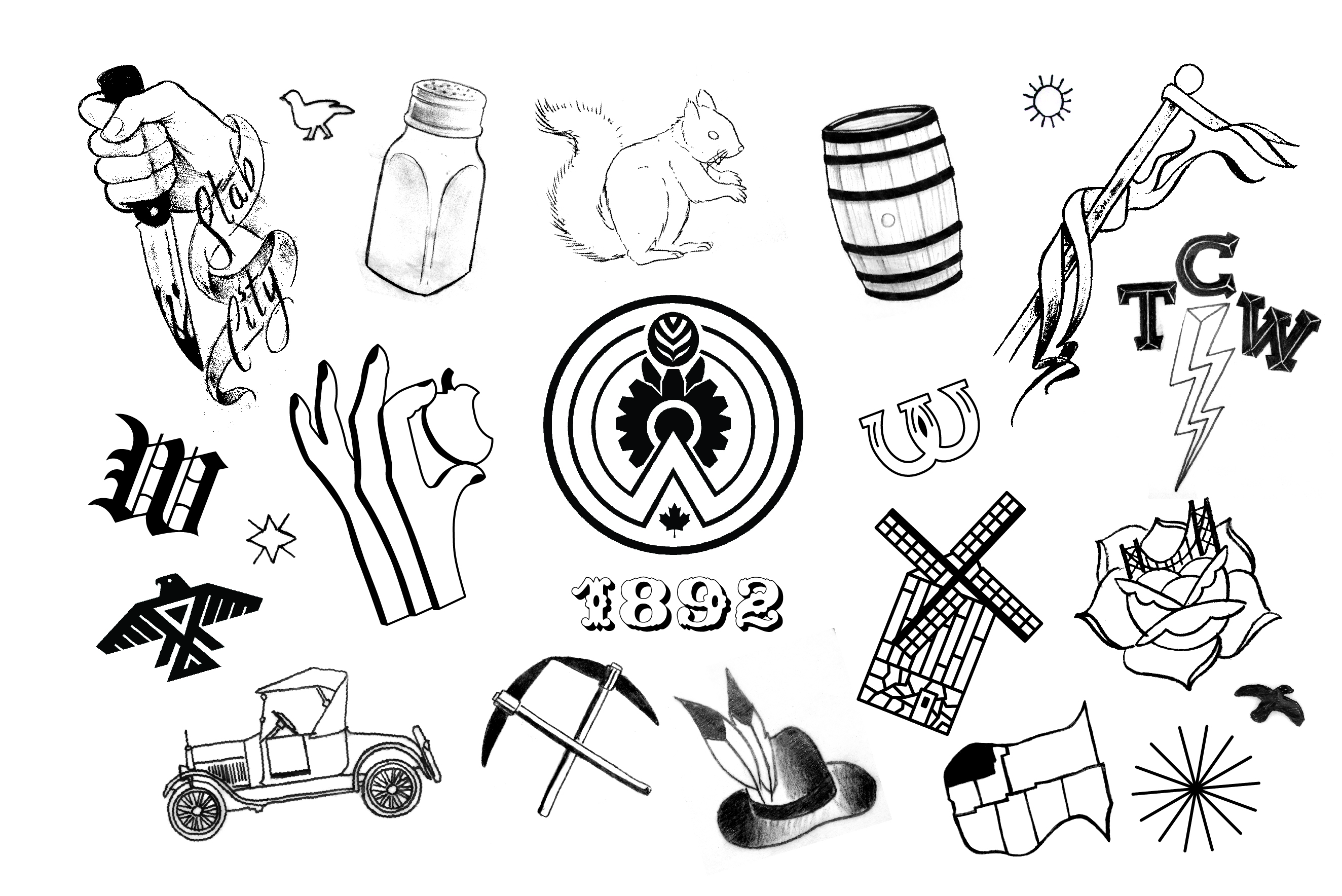 Windsor is Forever Tattoo Flash Set Completed!