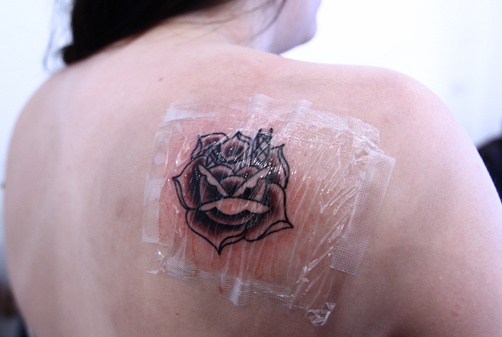 Rose Back Shoulder Tattoo
