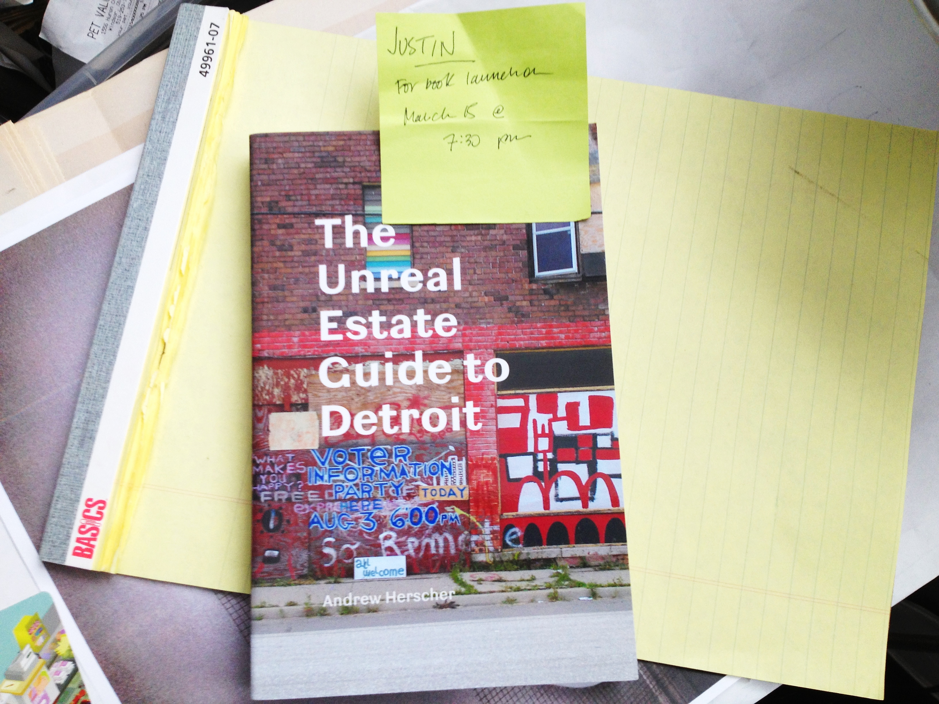 Book Launch: The Unreal Estate Guide to Detroit