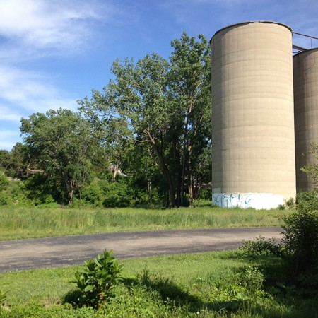 Silos and Grass