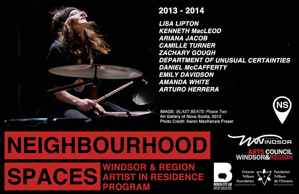 Neighbourhood Spaces Artists-in-Residence Announced, Lisa Lipton Starts this Week!