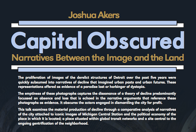 Capital Obscured: A Walking Tour and Lecture Led by Joshua Akers