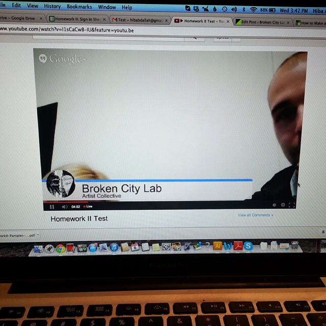 Testing Livestream @joshuababcock #hmwk2 #brokencitylab