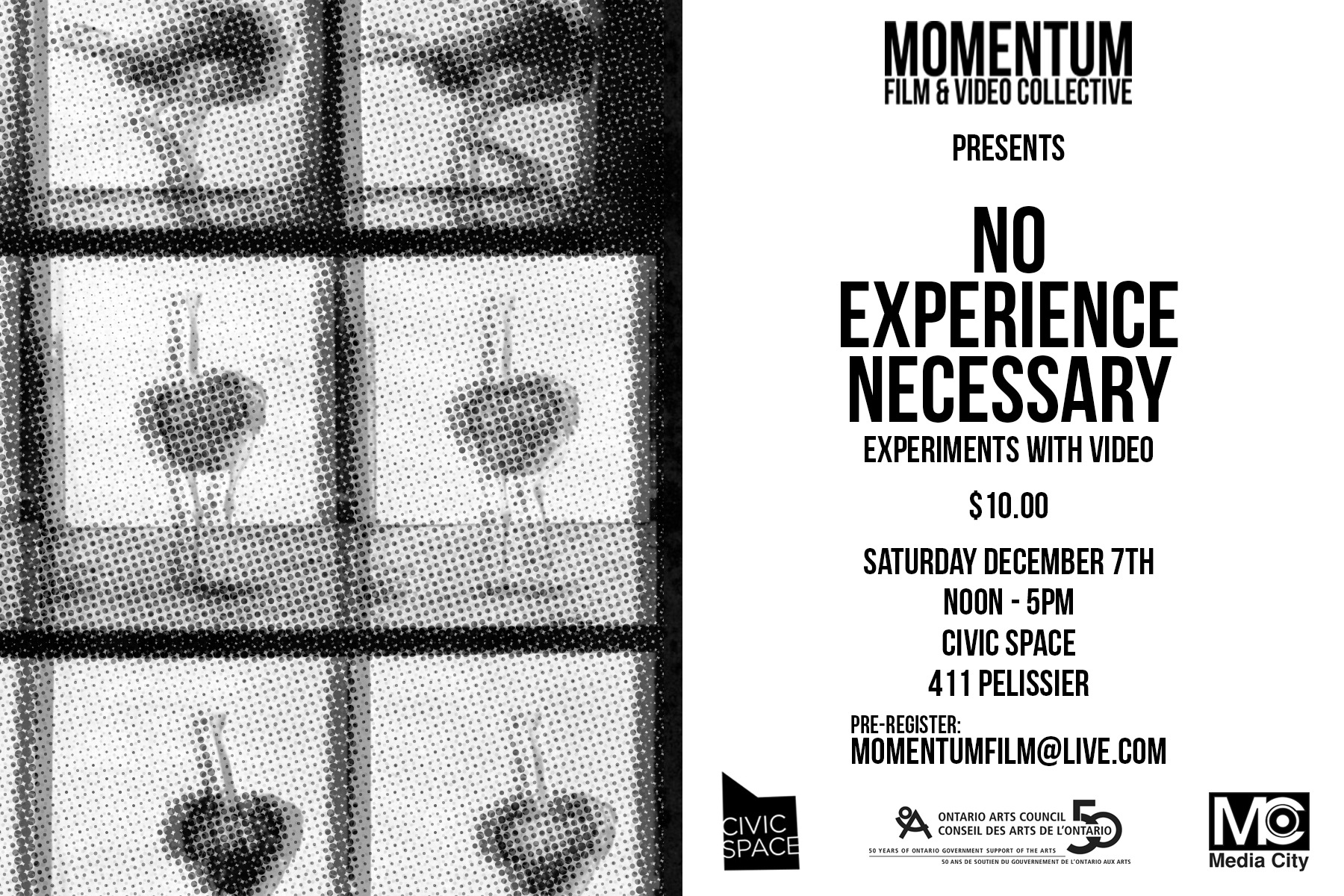 No Experience Necessary: A Workshop Series by Momentum Film & Video Collective
