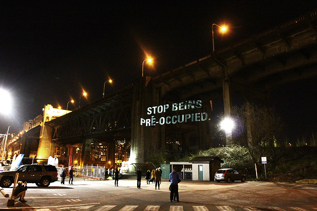 Flagged For Review: Projecting Forward (Wish List) Projections on the Burrard Bridge